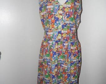 25% Off Sale Vintage Conversation Piece Team Spirit Dress/Sz Large