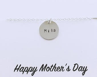 Mothers Day SALE Personalized Mommy Necklace - Custom Name Necklace, Children Necklace, Sterling Silver Necklace, Keepsake Necklace, Gift fo