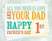 First Father's Day Card - Card for New Dad - New Baby Card for Dad - Happy First Father's Day - Card for Dad - Cute card for New Dad
