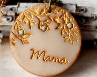 Mother's Day 2017, Mama Necklace, Family Mama and Children Necklace, Personalized gift for Mom