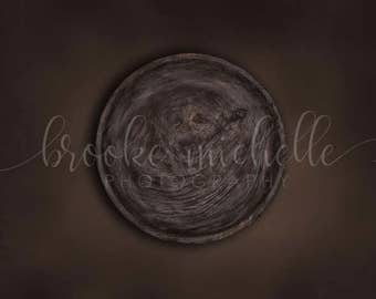 Studio Digital Backdrop - Bowl Deep Brown