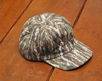vintage quilted insulated tree bark camo hat
