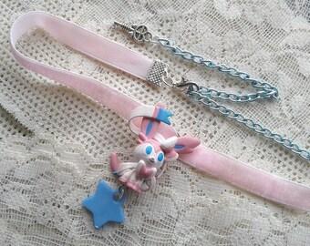 Pokémon Choker - SYLVEON Necklace - Figure necklace, Pokemon GO