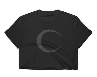 Black Crescent Moon - 90'S CROP