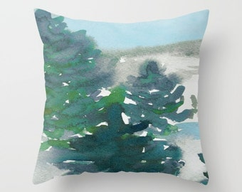 Decorative Pillow Cover - Winter Tale Painting - Throw Pillow Cushion - Fine Art Home Decor