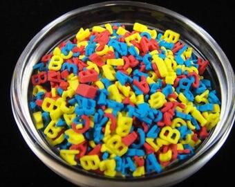 Aplabet Sprinkles, Kids Parities, Sprinkles, Cake Decorating, Cake Pop Sprinkles, Back to School Party, Candy Sprinkles, Jimmies
