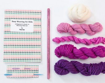 Kid's Wall Art Weaving Kit - Purple Weaving