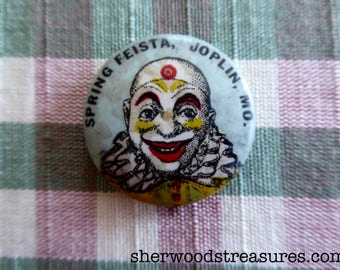 """Vintage Spring Fiesta Joplin MO Souvenir  Button-  1 1/4"""""""