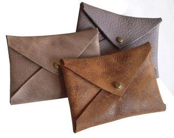 Buy 1 get 1 FREE, Business Card Leather Holder, Men's wallets, Envelope Card Case, credit card case, men's Gift, slim card