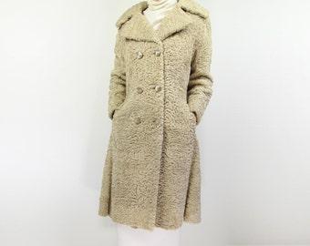 VINTAGE Blonde Persian Lamb Coat 1960s