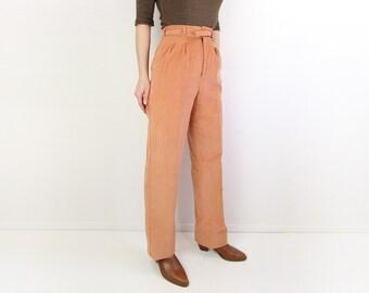 VINTAGE 1970s Levis Corduroy Pants Peach Trousers