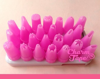Plastic Piping Tips (Bigger Size) - For Deco Cream 24 pieces