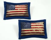 Catnip Toy Flag, Fourth of July Cat Toy, Patriotic Pets, American Flag Pillow, Distressed Flag, Stars and Stripes Toy, OLD GLORY (2 pack)
