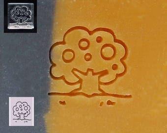 SoapRepublic Small Apple Tree Acrylic Soap Stamp / Cookie Stamp