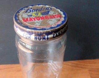 Vintage Borden's Mayonnaise Jar