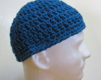 Blue Mans Wool Hat, Alpaca, Skull Cap, Beanie, Hunting, Cycling, Hiking, SnowBoarding, Ski, Camping, Spring, Trending, Short, Gift, Unusual