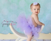 ON SALE Tutu Skirt, Baby Tutu, Tutu, Infant Tutu, Tutu Skirts, Newborn Tutu, Lavender, With Matching Headband , Available In Size 0-24 Month