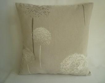 """Funky Pillow Oatmeal Beige Designer Cushion Cover Dandelion. Sham Slip.Scatter. 1 x 16"""" (40cm)"""