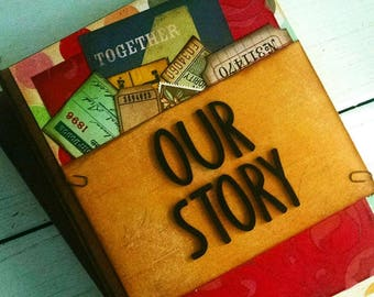 Our Story Journal Notebook Diary Life Story Sketchbook Art Journal Keepsake Unlined Pages Anniversary Couples Family Him Her Memories