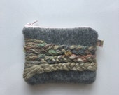 Handspun Braided Wool Zipper Purse
