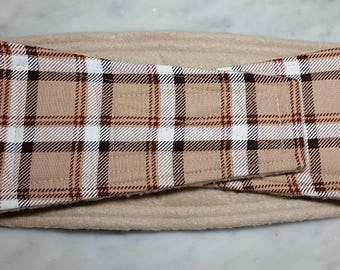 Belly Band Waist 18.25 x Width 4.25 inches Male Dog Wrap Diaper Belt by SewDog 3 Layers Quilted Padded Wrap # 36 PLAID