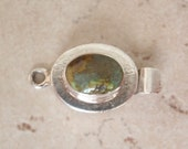 Sterling Silver Box Clasp Oval Shape Turquoise No Trim Single Strand Qty. 1 C044
