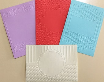 EMBOSSED CARDSTOCK 5 x 7 inches 4 pack Frames 2