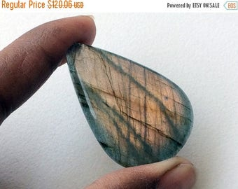 65% MEGA SALE Labradorite Plain Pear Shape Cabochon, Rare Purple Fire Labradorite Gemstones, Purple Labradorite Ring 28x43mm, 1 Pc - KS3219