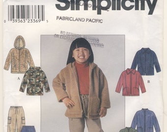 Simplicity 8902 Childs Jacket and Pants Multi Size Pattern 3 - 4 - 5 - 6 - 7 - 8