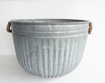 rope bucket etsy. Black Bedroom Furniture Sets. Home Design Ideas