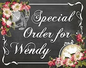 Special Order for Wendy only Polly's Paper Studio