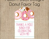 Donut  Birthday Party Printable- Print your own - Favor Tag