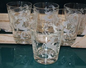 White Leaping Gazelle Short Glasses