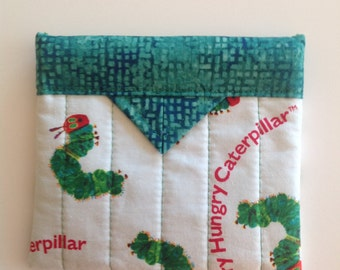 The Hungary Caterpillar Quilted Fabric Mini Snap Bag Purse Pouch 5-1/4 x 4-3/4