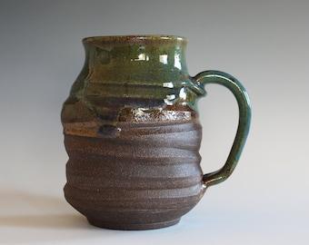 Unique Coffee Mug, 18 oz, handmade ceramic cup, handthrown mug, stoneware mug, pottery mug unique coffee mug ceramics and pottery