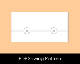 Two Button Fold Over Pouch - PDF Pattern