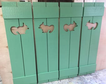 Shutter Exterior Interior ONE Cedar Wood Painted OR Unpainted Beach Cottage Lake Country House Shutter - 39 Inch by CastawaysHall