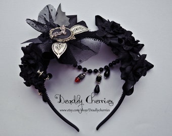 Gothic Vampire hairband hair accessory by Deadly Cherries