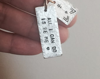 Bob Dylan Quote Necklace READY TO SHIP