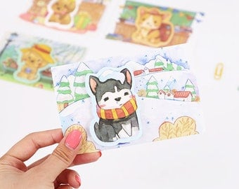 Cute Dog Sticky Notes - Stick Note Notepad Mini Notepad Post It