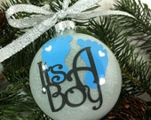 Baby Boy Gender Reveal Christmas Ornament, Christmas Gift, Baby Shower Gift, It's A Boy, Baby Boy Ornament