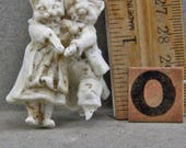 Vintage German  Excavated 1870s Animal Figure  Miniature Cats  Dressed Like People Dancing Cats Oscarcrow