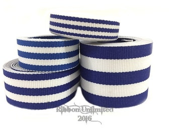10 Yds WHOLESALE Blue TAFFY Stripes grosgrain ribbon LOW Shipping Cost