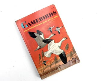 Gamebirds-- A Guide to North American Species and their Habits, Bird Watcher Guide Book, Nature Decor