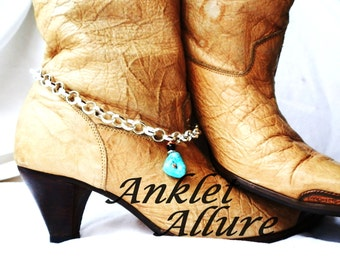 Southwestern Boot Chains Turquosie Boot Jewelry BoHo Boot Bracelets Turquoise Foot Jewerly