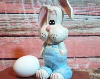 Easter Bunny Peter Rabbit Hand Carved Caricature