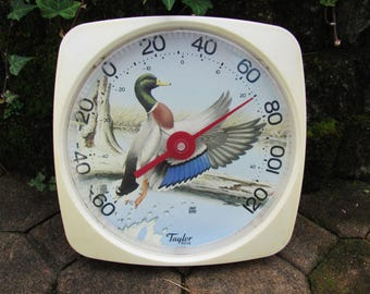 Taylor Thermometer Indoor Outdoor 1970s Chuck Ripper Mallard Duck 5314 Patio RV