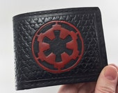 Reserved Item:  Hand Tooled Leather Imperial Cog Wallet