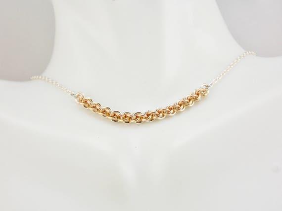 TriTone JPL Bar Necklace