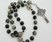 Llanite Anglican Rosary with Vintage James Avery Sterling Silver Good Shepherd Cross
